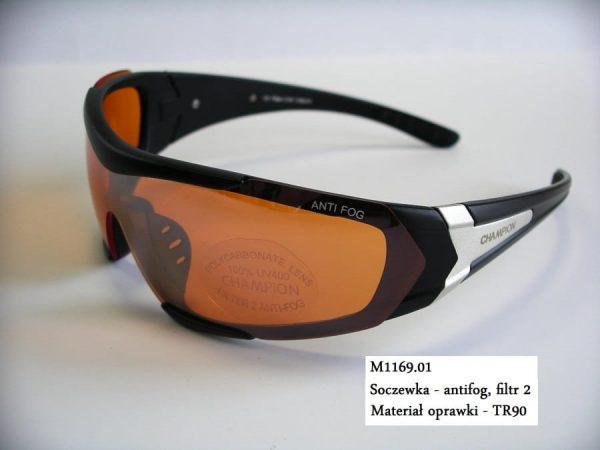 Okulary sportowe ze szkłami rozjaśniającymi
